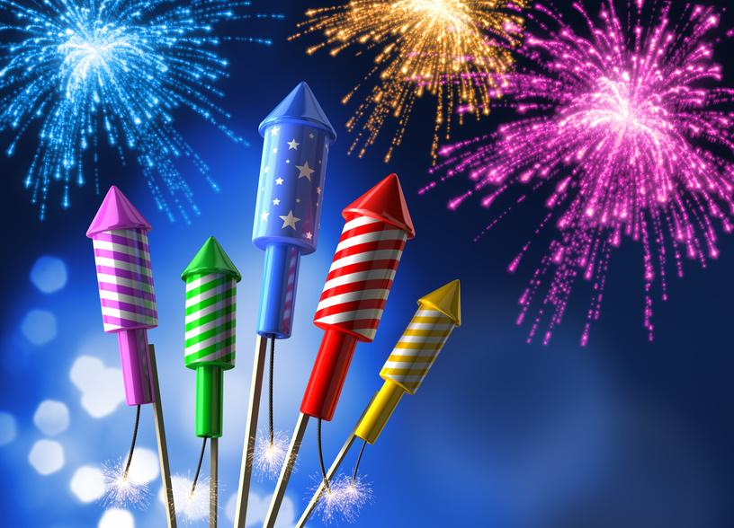 Feuerwerksraketen